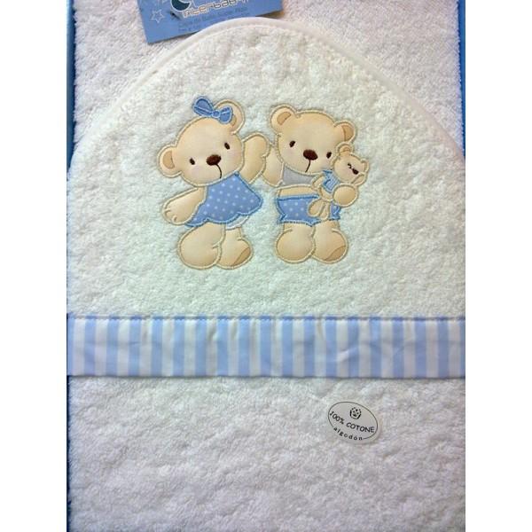 Capa ba o bebe personalizada nombre bordado - Capa bano bebe ...