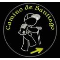 Parche Bordado CAMINO de SANTIAGO (Color BLANCO)