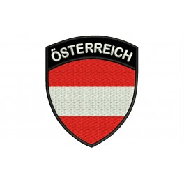 Parche Bordado Bandera AUSTRIA (Escudo)