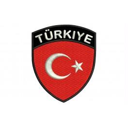 Parche Bordado Bandera TURQUIA (Escudo)