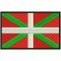 Parche Bordado Bandera EUSKADI (8 x 5 cm con Velcro)