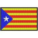 Parche Bordado Bandera CATALUNYA-ESTELADA (8 x 5 cm con Velcro)
