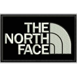Parche Bordado THE NORTH FACE (Bordado BLANCO / Fondo NEGRO)