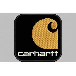 Parche Bordado CARHARTT (Fondo NEGRO)
