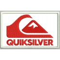 Parche Bordado QUICKSILVER (Bordado ROJO / Fondo BLANCO)