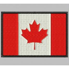 Parche Bordado Bandera CANADA