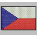 Parche Bordado Bandera CHEQUIA (REP. CHECA)