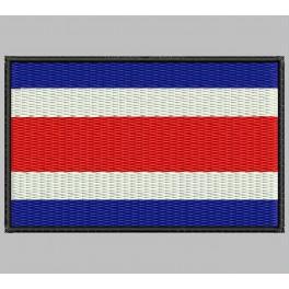 Parche Bordado Bandera COSTA RICA