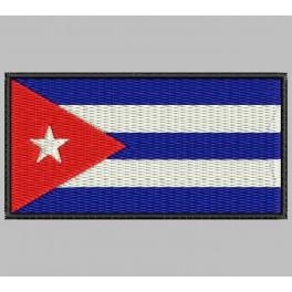 Parche Bordado Bandera CUBA