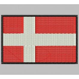 Parche Bordado Bandera DINAMARCA