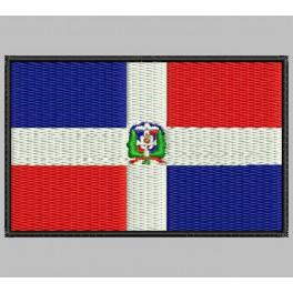 Parche Bordado Bandera REPUBLICA DOMINICANA