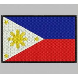 Parche Bordado Bandera FILIPINAS