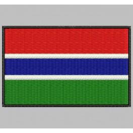 Parche Bordado Bandera GAMBIA