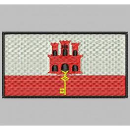 Parche Bordado Bandera GIBRALTAR