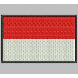 Parche Bordado Bandera INDONESIA