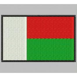 Parche Bordado Bandera MADAGASCAR