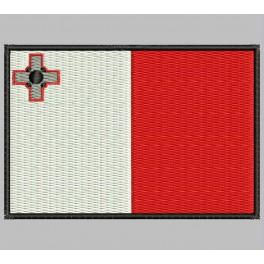 Parche Bordado Bandera MALTA