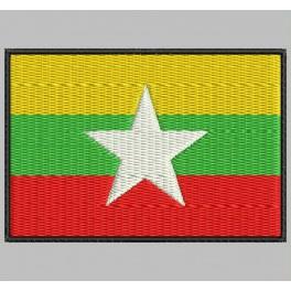 Parche Bordado Bandera MYANMAR (BIRMANIA)