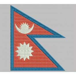 Parche Bordado Bandera NEPAL