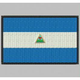 Parche Bordado Bandera NICARAGUA