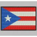 Parche Bordado Bandera PUERTO RICO