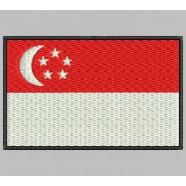 Parche Bordado Bandera SINGAPUR