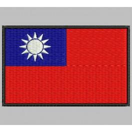 Parche Bordado Bandera TAIWAN