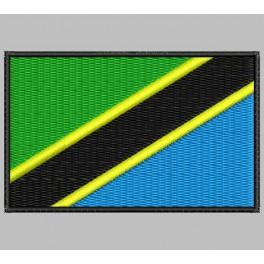 Parche Bordado Bandera TANZANIA
