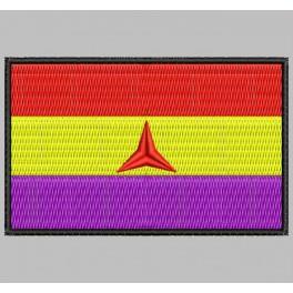 Parche Bordado Bandera REPUBLICANA (BRIGADAS INTERNACIONALES)