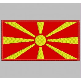 Parche Bordado Bandera MACEDONIA