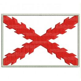 Parche Bordado Bandera CRUZ DE BORGOÑA