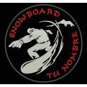 Parche Bordado SNOWBOARD (Personalizado)