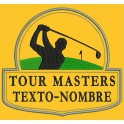 Parche Bordado TOUR MASTERS (Fondo AMARILLO)