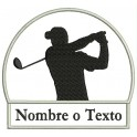Parche Bordado GOLF (Color NEGRO)