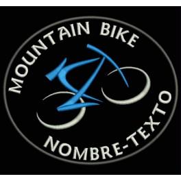 Parche Bordado MOUNTAIN BIKE MTB (Fondo NEGRO)