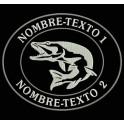 Parche Bordado PESCA PIKE (LUCIO) FISHING (Personalizado)