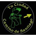 Parche Bordado CAMINO de SANTIAGO (Color VERDE OSCURO)