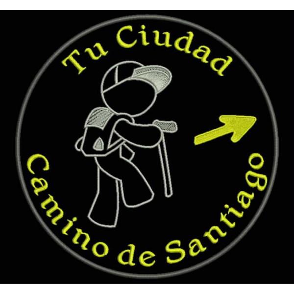 PARCHE TELA BORDADO DE LA CONCHA DEL CAMINO DE SANTIAGO EMBROIDER PATCH