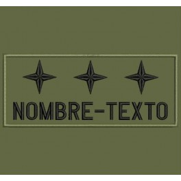 Parche Bordado MILITAR TENIENTE GENERAL (Color VERDE OLIVA)