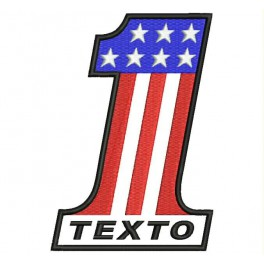 Parche Bordado USA NUMERO 1 (Personalizado)