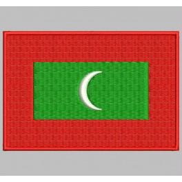 Parche Bordado Bandera MALDIVAS