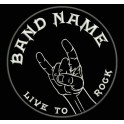 Parche Bordado ROCK / METAL (Color BLANCO)