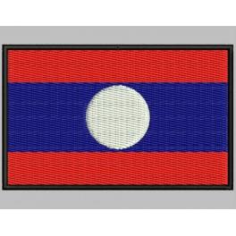Parche Bordado Bandera LAOS