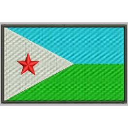Parche Bordado Bandera DJIBOUTI