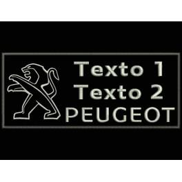 Parche Bordado PEUGEOT (Bordado PLATA / Fondo NEGRO)