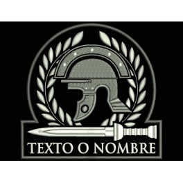 Parche Bordado CASCO ROMANO (Fondo NEGRO)