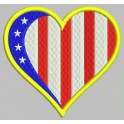 Parche Bordado ATLETICO DE MADRID (CORAZON)