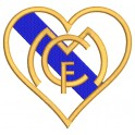 Parche Bordado REAL MADRID (CORAZON)