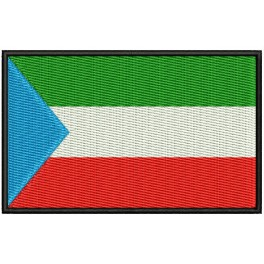 Parche Bordado Bandera GUINEA ECUATORIAL