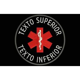 Parche Bordado ALERTA MEDICA (Fondo NEGRO)